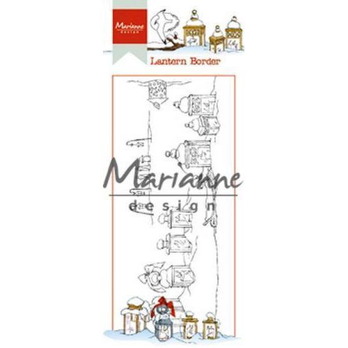 Marianne D Clear Stamp Hetty`s lantaarn border HT1640 7,5 x 18,5 cm (09-18)