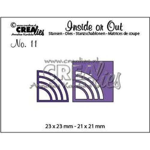 Crealies Insider or Out Corners E rond CLIO11 23 x 23 mm - 21 x 21 mm (08-18)