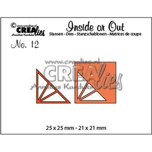 Crealies Insider or Out Corners F driehoek CLIO12 25 x 25 mm - 21 x 21 mm (08-18)