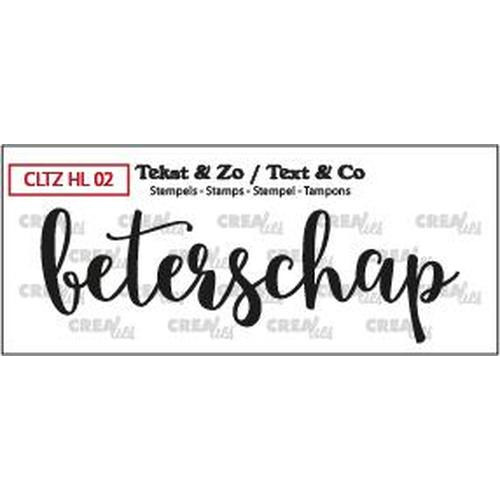 Crealies Clearstamp Tekst&Zo Beterschap  (NL) CLTZHL02 84 x 27 mm (08-18)