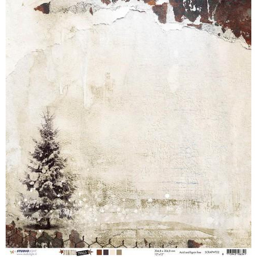 Studio Light Scrappapier 10 vel 30,5x30,5 Winter Trails nr 02 SCRAPWT02 (08-18)