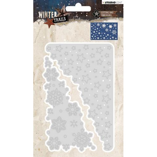 Studio Light Embossing Die Cut Stencil Winter Trails  nr 105 STENCILWT105 137 x 89 mm (08-18)