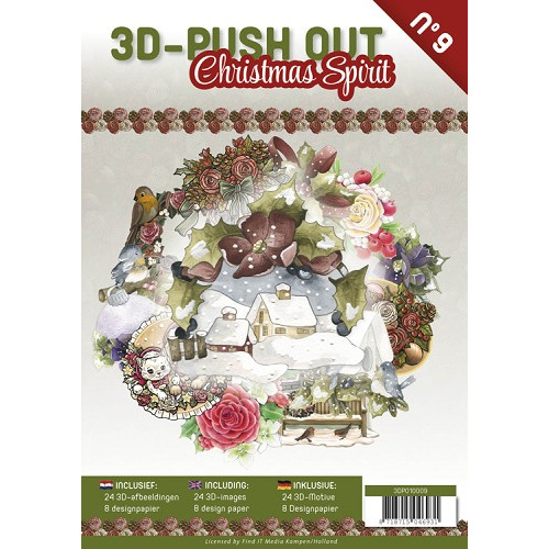 3D Push Out Book Christmas Spirit