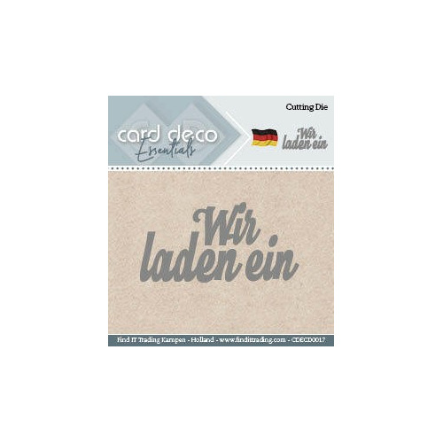 Card Deco Cutting Dies- Wir laden ein