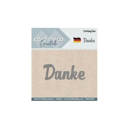 Card Deco Cutting Dies- Danke