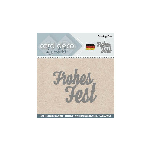 Card Deco Cutting Dies- Frohes Fest