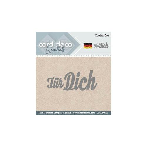 Card Deco Cutting Dies- Für Dich