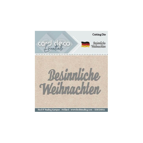 Card Deco Cutting Dies- Besinnliche Weihnachten