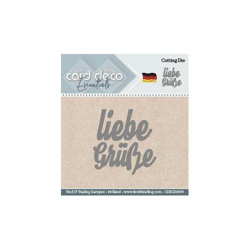 Card Deco Cutting Dies- Liebe Grüsse