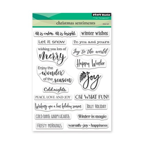 Clear Set Stamp Christmas 2018 Christmas Sentiments
