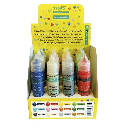 Pearl Maker display 12 colors/Farben