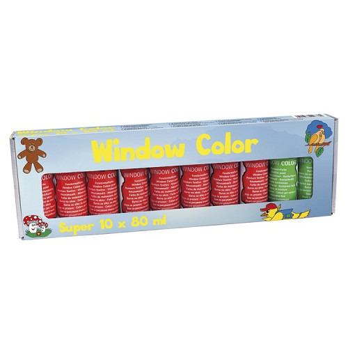 Window collor Super Set / Super 10-er Packung (10 x 80 ml)