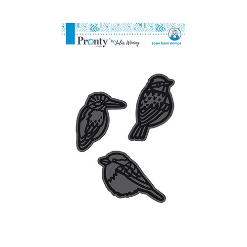 Foam stamps 3 Birds