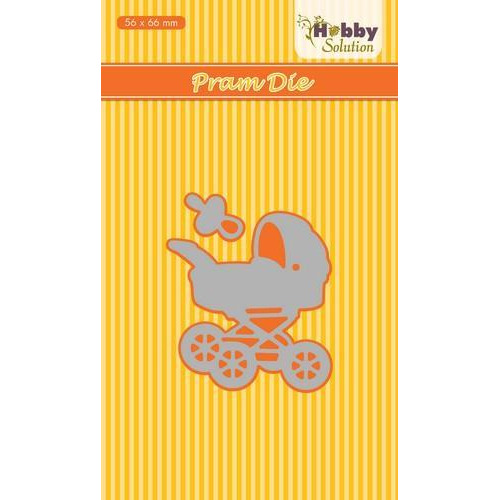 Nellies Choice Hobby Solution Die Baby-serie Pram HSDJ030 56x66mm (8-18)