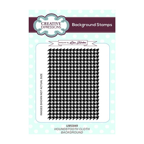 Background Stamp Houndstooth Cloth