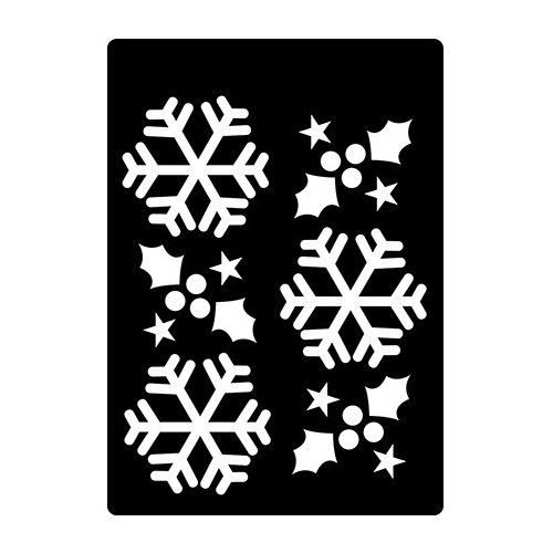 CE Mini Stencils Winter Holly