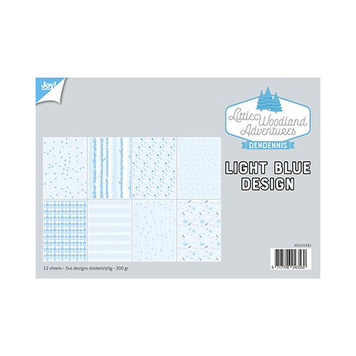 Papier Set A4 Papierset - LWA - Design Light Bleu