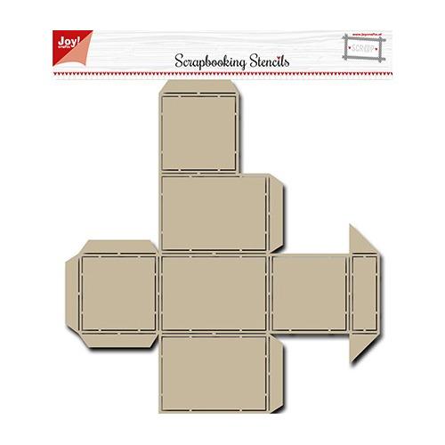 Scrapbooking Stencil Scrap Box Stencil - Noor - Candy Dispenser