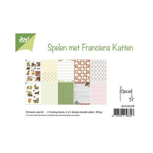 Papier Set A4 Papierset - Spelen met Franciens Katten