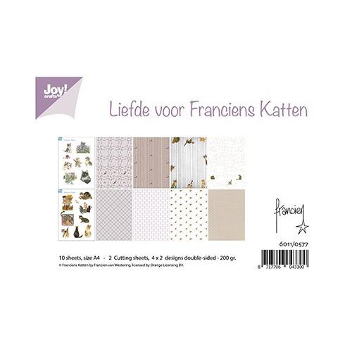 Papier Set A4 Papierset - Liefde voor Franciens Katten