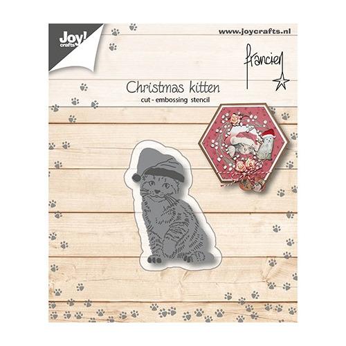 Cutting Embossing Snij-embosstencil - Franciens Kerst-kitten
