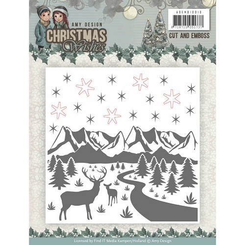 Cut and Emboss Folder - Amy Design - Christmas Wishes