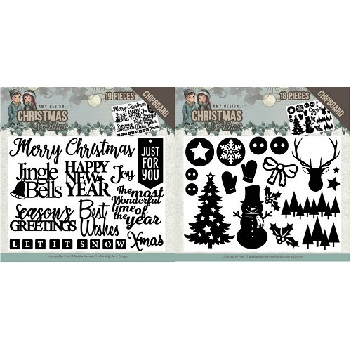 Amy Design Christmas Wishes Chipboard set