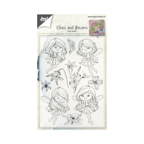 Clearstempel - Elfen & Bloemen