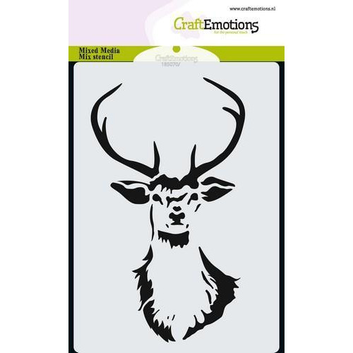 CraftEmotions Mask stencil kop rendier A6 A6 (09-18)