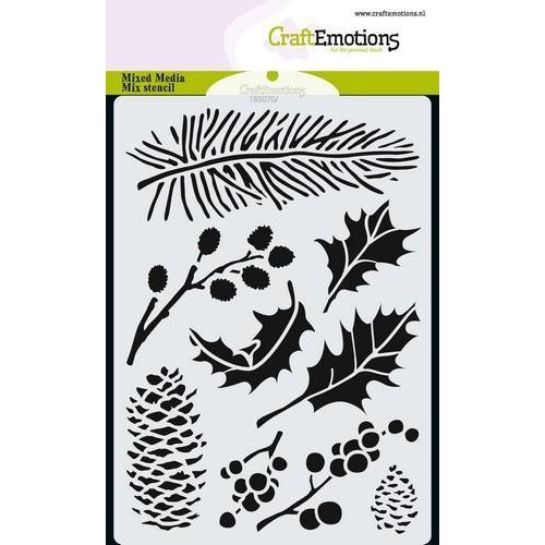 CraftEmotions Mask stencil xmas florals A6 A6 (09-18)