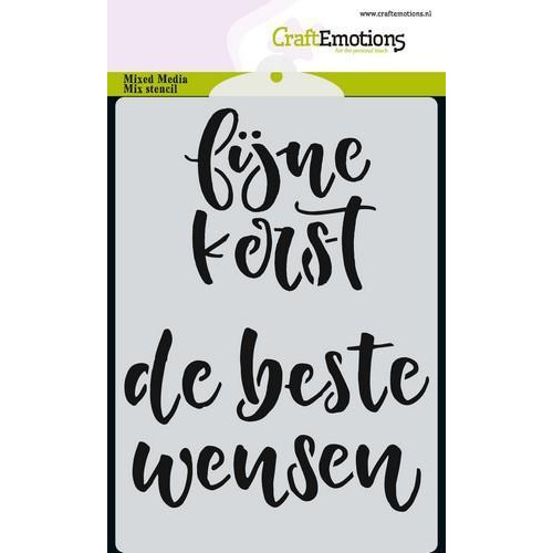 CraftEmotions Mask stencil handletter fijne kerst A6 (NL) A6 (09-18)