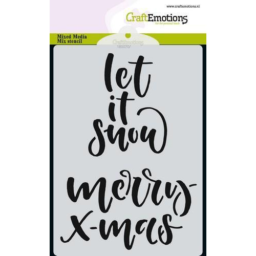 CraftEmotions Mask stencil handletter merry X-mas A6 (Eng) A6 (09-18)