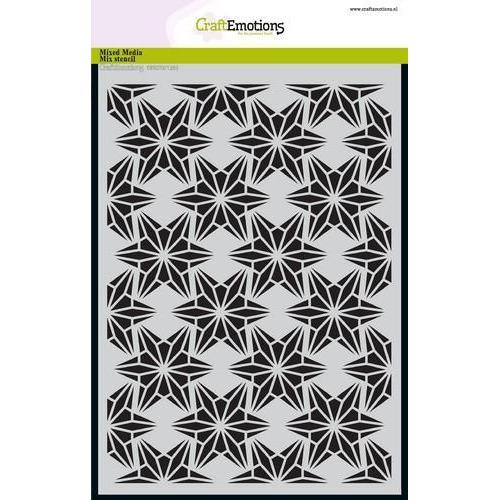 CraftEmotions Mask stencil - draadvorm sterren A5 A5 (09-18)