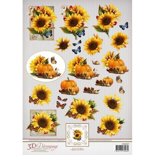 Ann`s Paper Art 3D Decoupage Sheet Sunflowers