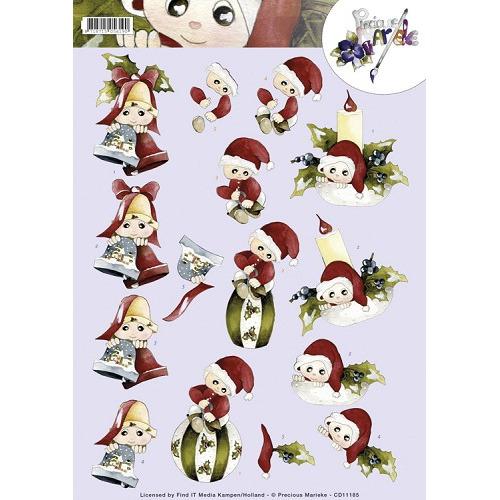 3D Knipvel - Precious Marieke - Christmas dolls