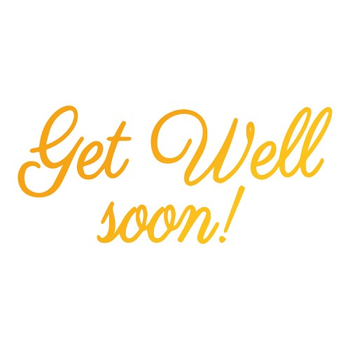 Get Well Soon Hotfoil Stamp (78 x 35mm | 3.1 x 1.4in)