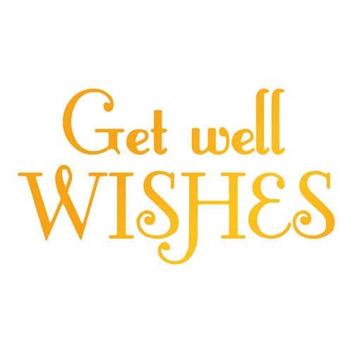 get well wishes Hotfoil Stamp (89 x 62mm | 3.5 x 2.5in)