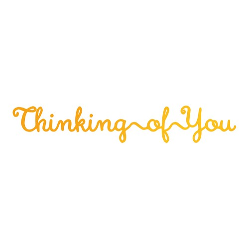 Thinking of You Hotfoil Stamp (81 x 13mm | 3.2 x 0.6in)