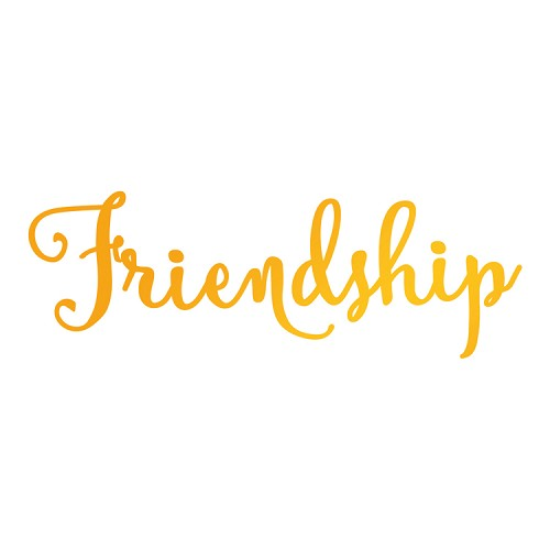 Friendship Hotfoil Stamp (76 x 26mm | 3 x 1in)