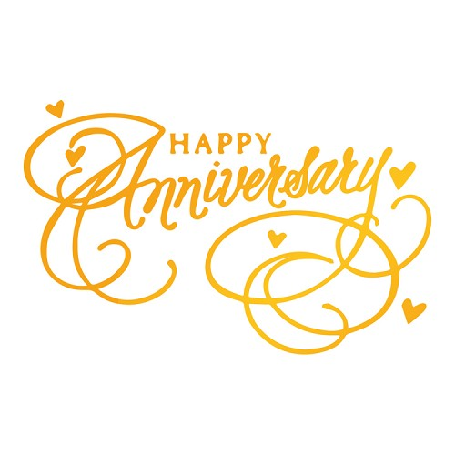 Happy Anniversary Hotfoil Stamp (80 x 50mm | 3.2 x 2in)