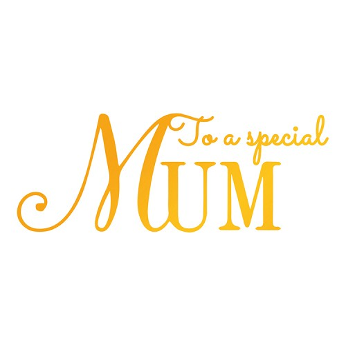 Special Mum Hotfoil Stamp (87 x 33mm | 3.4 x 1.3in)