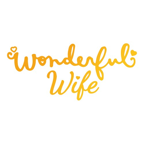 Wonderful Wife Hotfoil Stamp (74 x 32mm | 3 x 1.3in)