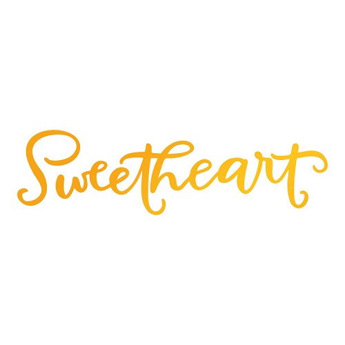 Sweetheart Hotfoil Stamp (76 x 21mm | 3 x 0.8in)