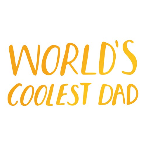 Coolest Dad Hotfoil Stamp (64 x 32mm | 2.5 x 1.3in)