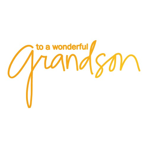 Wonderful Grandson Hotfoil Stamp (89 x 45mm | 3.5 x 1.8in)