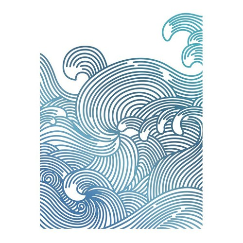 Swirling Seas Hotfoil Stamp