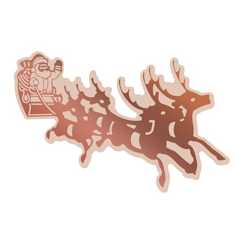 Cut, Foil and Emboss Die - Highland Christmas - Santa's Sleigh (1pc)