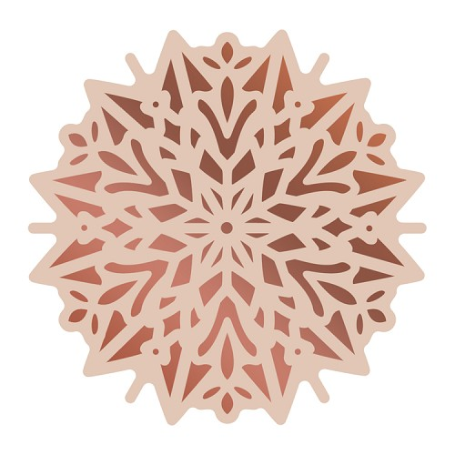 Cut, Foil and Emboss Die - Highland Christmas - Poinsettia Doily(1pc)