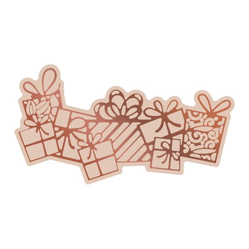 Cut, Foil and Emboss Die - Highland Christmas - Flurry of Presents (1pc)