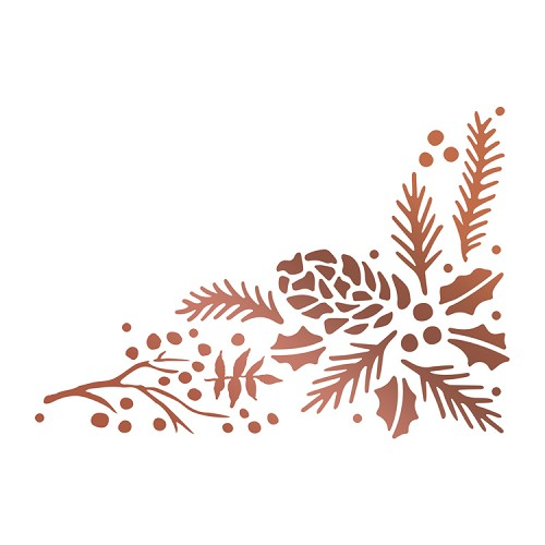 Hotfoil Stamp - Highland Christmas - Pinecone Corner (1pc)